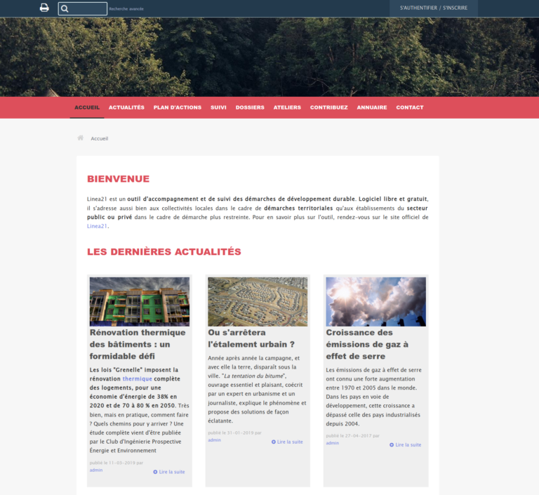 Nouvelle interface publique